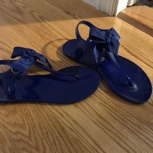 BCBG blue jelly sandals